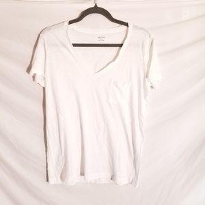 MADEWELL white v neck t shirt s